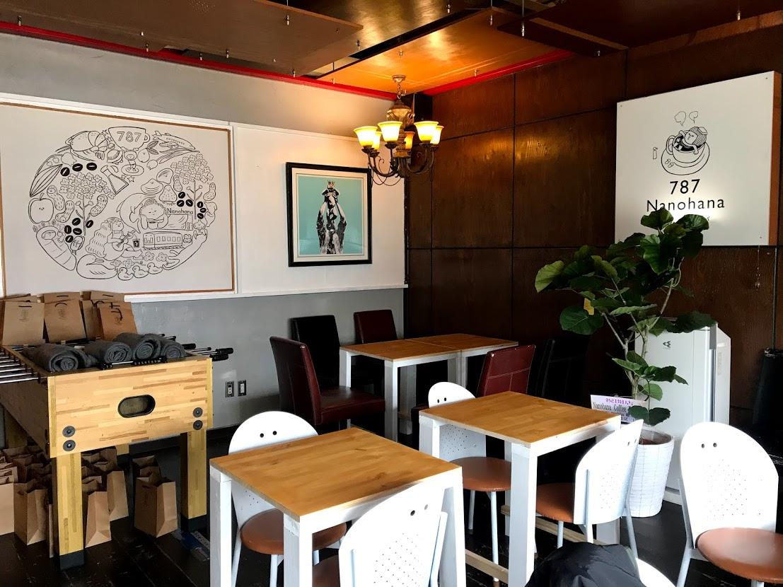 787コーヒー店内テーブル席