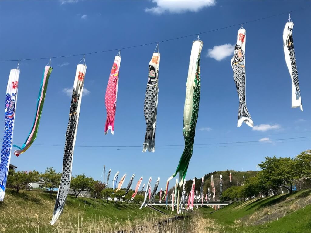 村田川のこいのぼり2