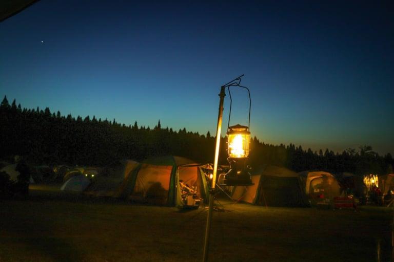 キャンプ場の夜