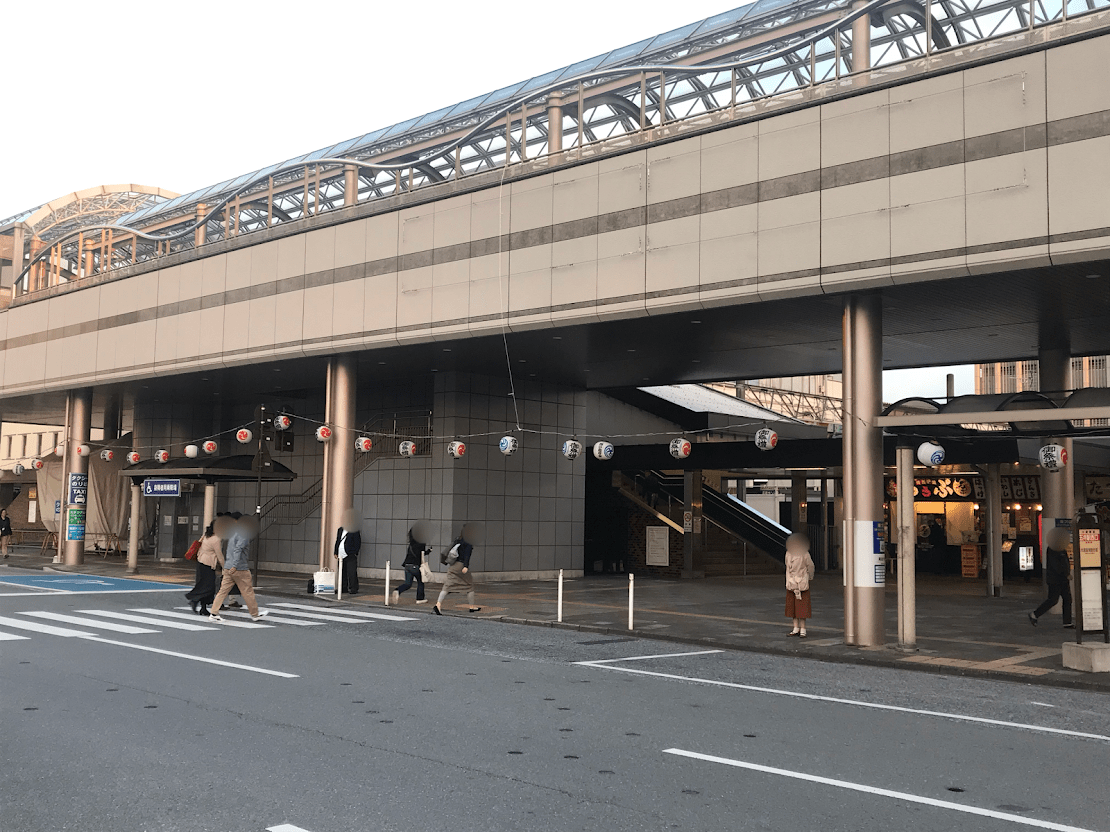 五井駅のちょうちん